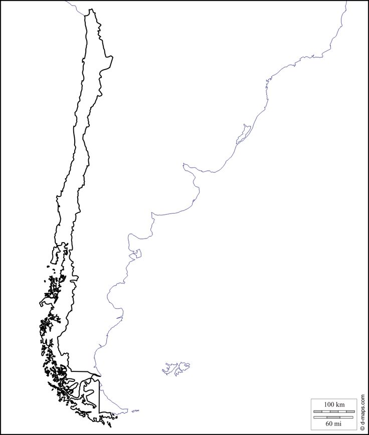 Chile : free map, free blank map, free outline map, free base map : coasts, limits (white)