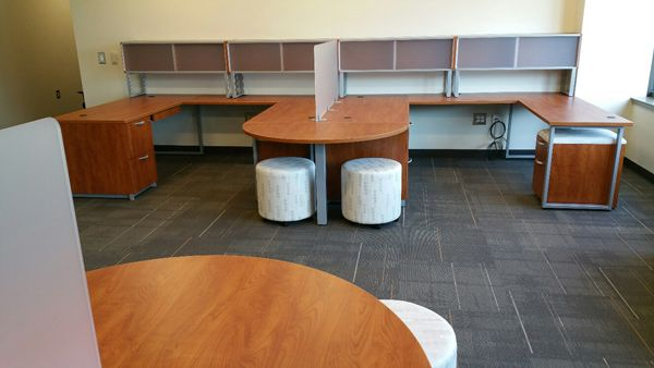 Cherokee County School District - Dr. Frank R. Petruzielo Educational Services Complex (Gaffney, SC) Renegade collaborative tables with Mio seating in a collaborative/open space #NationalOffice