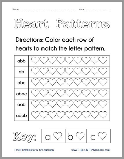 The Best Pattern Worksheet Ideas On PreSchool