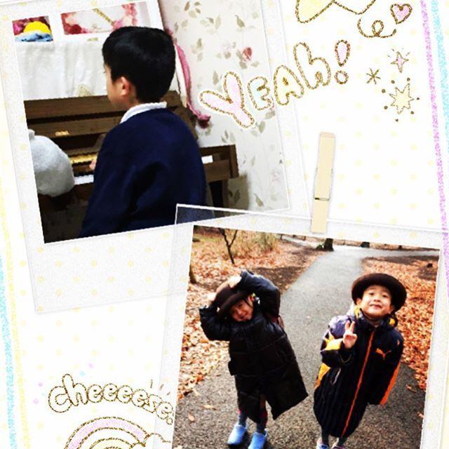 【kochan.junjun】さんのInstagramをピンしています。 《お帰りなさい٩(๑❛ᴗ❛๑)۶ 金曜日は幼稚園の後、絵画教室にピアノ大変ですねー(╹◡╹)でも、楽しそうだねー! #幼稚園#こーちゃん#じゅんじゅん#絵画教室#ピアノ教室#森 #森の公園 #笑顔》
