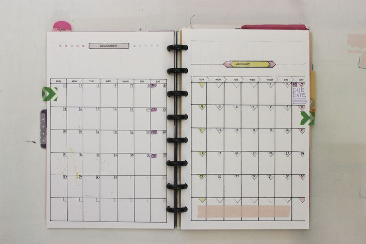 Free Discbound Planner Monthly Templates by Ahhh Design #diyplanner