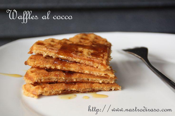 Waffles+al+cocco+(senza+burro)