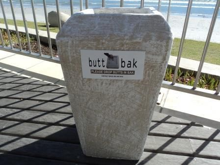 BUTT BAK - OUTDOOR ASHTRAYSWith the new Smoking Laws in place, where smoking zones are in most cases outside away from building entrances, the littering of cigarette butts is becoming a huge problem.Butt Baks are a Green product and are easy to maintain and clean. Here's a brief profile:An attractive fibre – cement product easy to use and clean for the disposal of cigarette butts, with a unique water drainage system.•Reduced labour costs of daily housekeeping with simple emptying of a light…