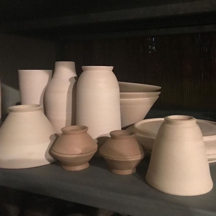 Ready to be glazed and bisque fired. Bowls cups vases and plates. Oh my!