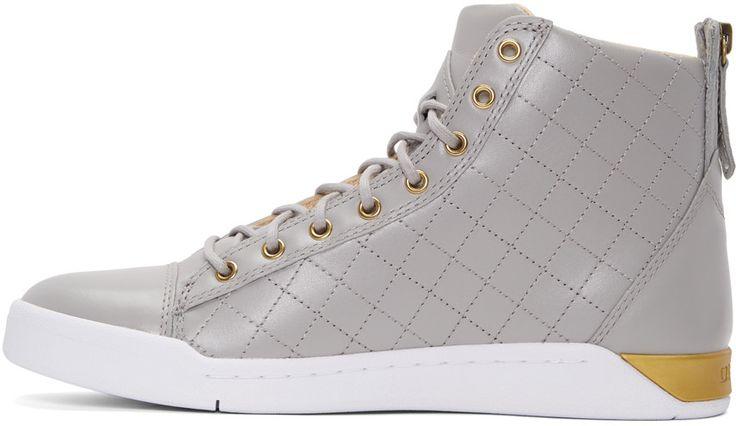 Diesel - Grey Diamond High-Top Sneakers