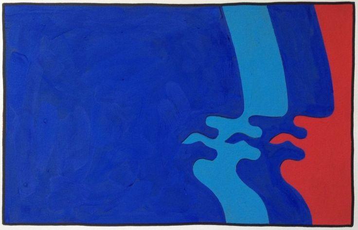 Dimitris Milionis - Rare 1/10 - Signed Hand Colored Screen Print Greek Artist #Minimalism