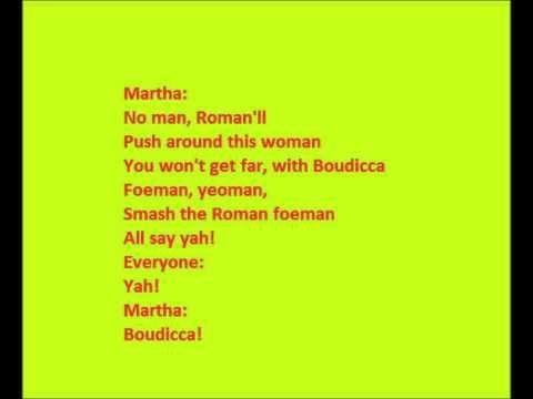 ▶ Horrible Histories-boudicca song lyrics - YouTube