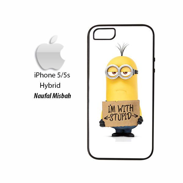 Kevin With Stupid Despicable Me Minion iPhone 5/5s HYBRID Case