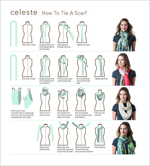 i am always looking for new ways to tie my scarf style rh pinterest com Scarf Tying Printable Flyer Coldwater Creek Scarf Tying
