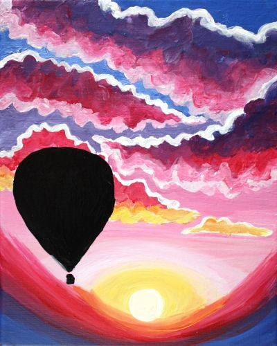 Learn to Paint Sunset Balloon Ride tonight at Paint Nite! Our artists know exactly how to teach painters of all levels - give it a try!