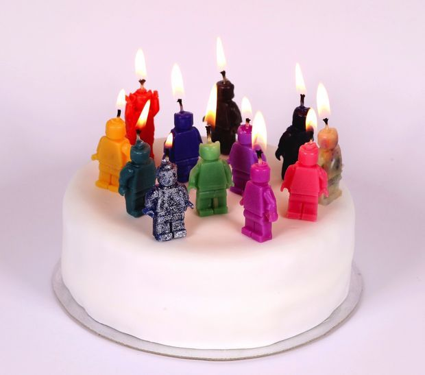 Picture of Custom-Made Wax Candles (Cast using Sugru Moulds)
