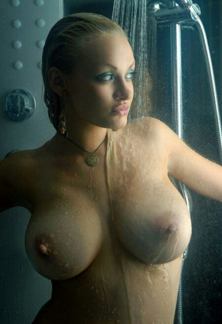 beautiful blonds in the shower