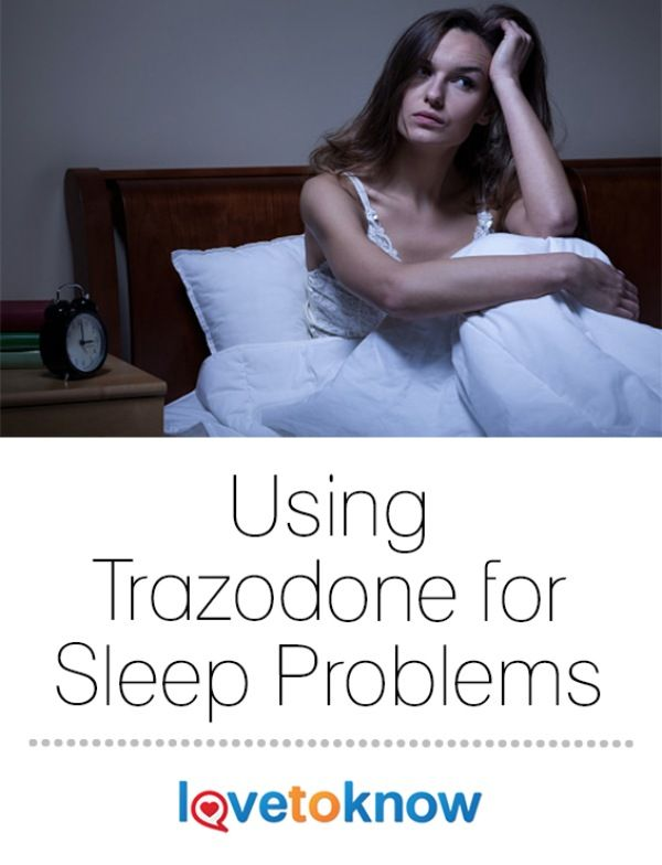 Trazodone medication is an option many doctors prescribe to patients who are suffering from severe insomnia. The medication is usually used to treat depression, not for specific sleep disorders. Trazodone's main side effect is drowsiness. | Using Trazodone for Sleep Problems from #LoveToKnow