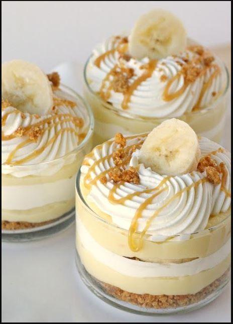 Banana Caramel Cream Dessert – Delicious Recipes Food