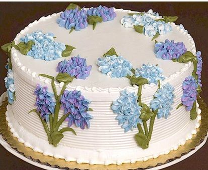 Tizzerts Elegant Hydrangeas Cake, great for Mother's Day!