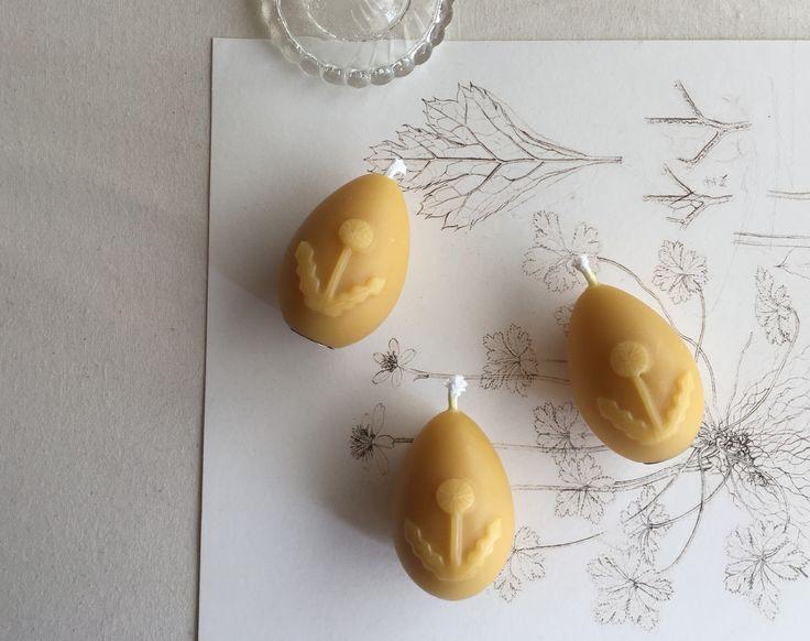 たんぽぽ卵のろうそく #蜜蝋 #candle #rousoku #たんぽぽ #eggs #新月の夜のろうそく会