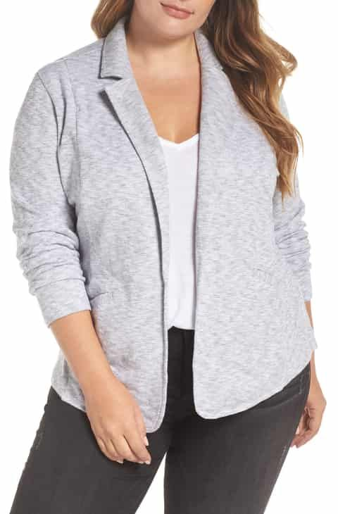fc98361b474 Caslon® Knit Blazer (Plus Size) Best Reviews