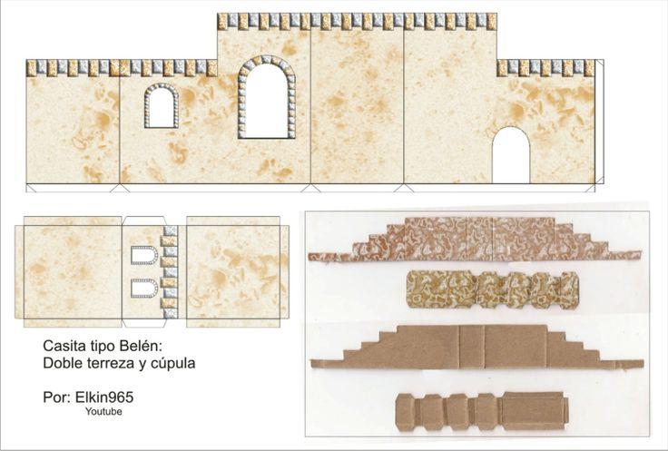 Elkin creaciones: Casita para pesebre tipo Belén en carton