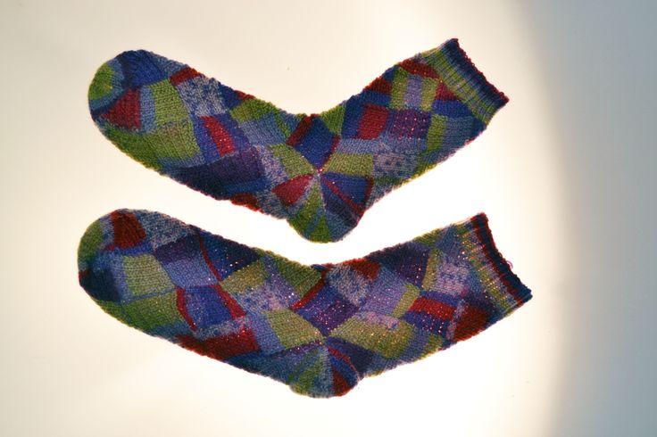 "GlobeIn: Hand Knit Socks ""Lilac pleasure"" #globein"
