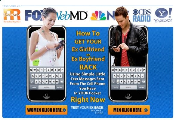 Text Your Ex Back eBook by Michael Fiore. Sets out to help you learn how to get your ex boyfriend back with the use of certain kinds of text messages which can have a impact in reuniting you with you ex partner after a split. Learn more at www.comparefromus...