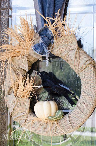How to Make a DIY Urban Scarecrow Fall Wreath