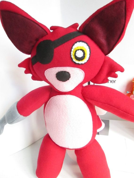 Foxy plush inspired by five nights at freddy s by fabrocreations