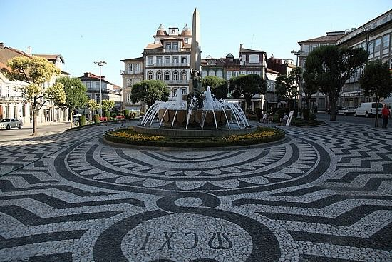 Guimaraes, Portugal - the cobblestone pavements