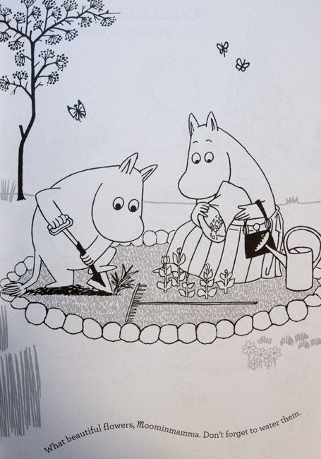 moomins colouring pages