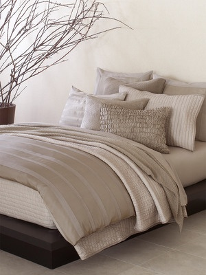 City Stripe Duvet Cover by Donna Karan Home on Gilt Home  Very nice neutrals