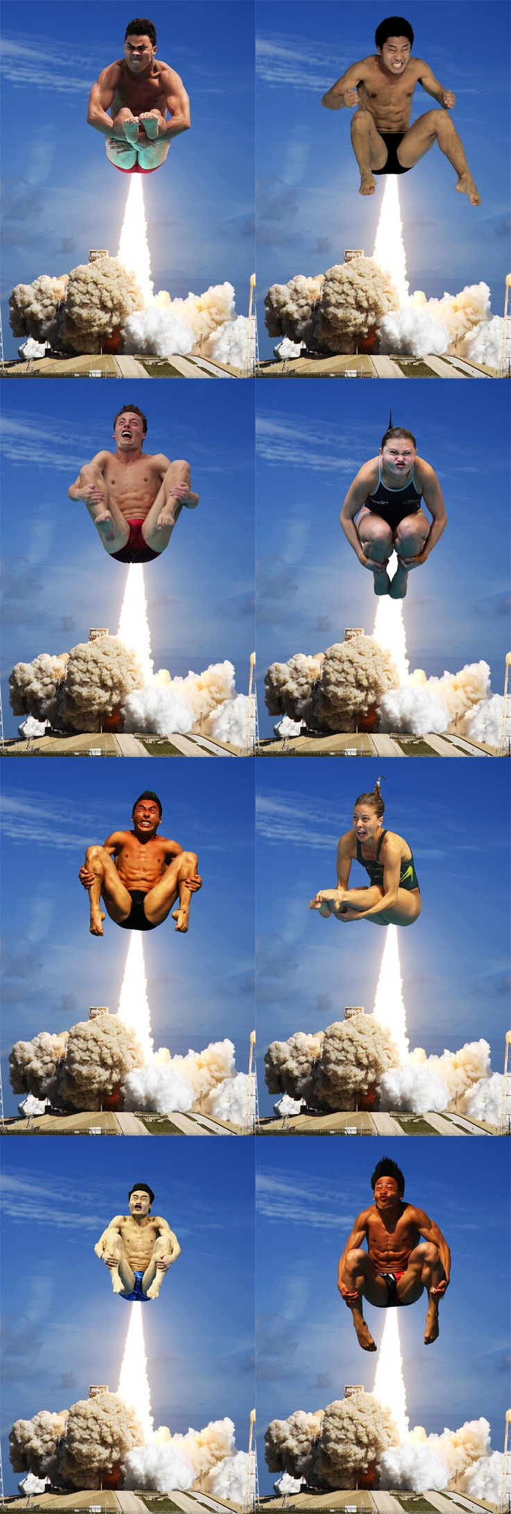 Olympic Divers MEME: Rocket Butt..hehehe