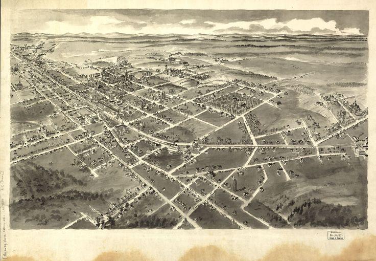 Birds eye view Cordele, Georgia 1908.   Library of Congress