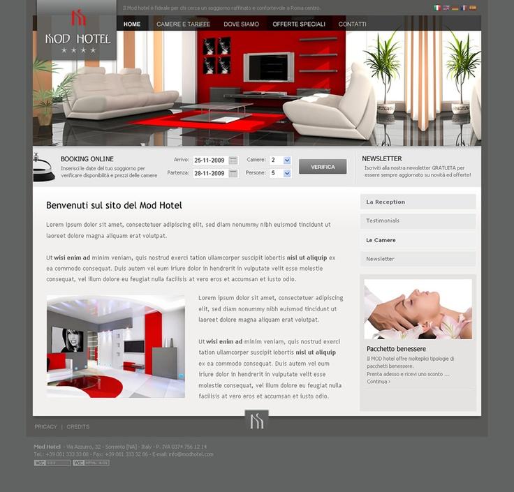 Mod Hotel - Web Design by Anna Maria - GoAnna Designs