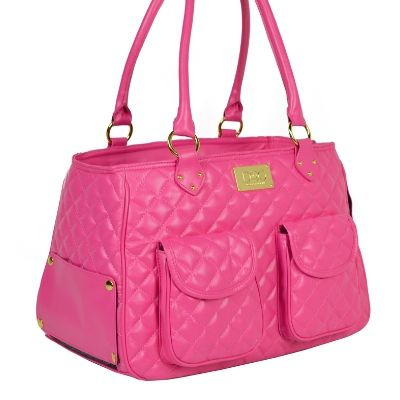 Classic Satchel Dog Carrier Bag :: Pink