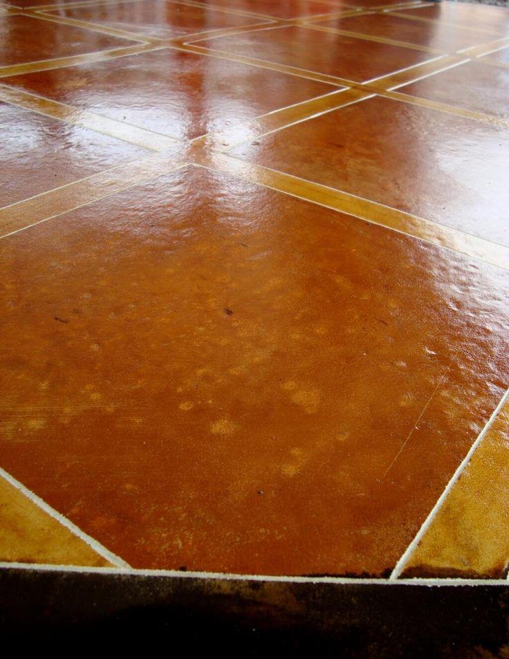 Puedes lograr un piso como este, con Rostain (Ácido para oxidar concreto)