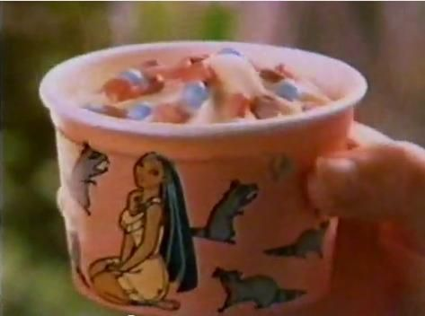 1995, Pocahontas Nestle Cool Creations Ice Cream Cups. I still remember how this tasted.