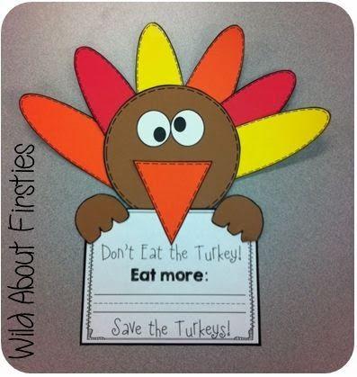 FREE craftivity - Save the Turkeys!