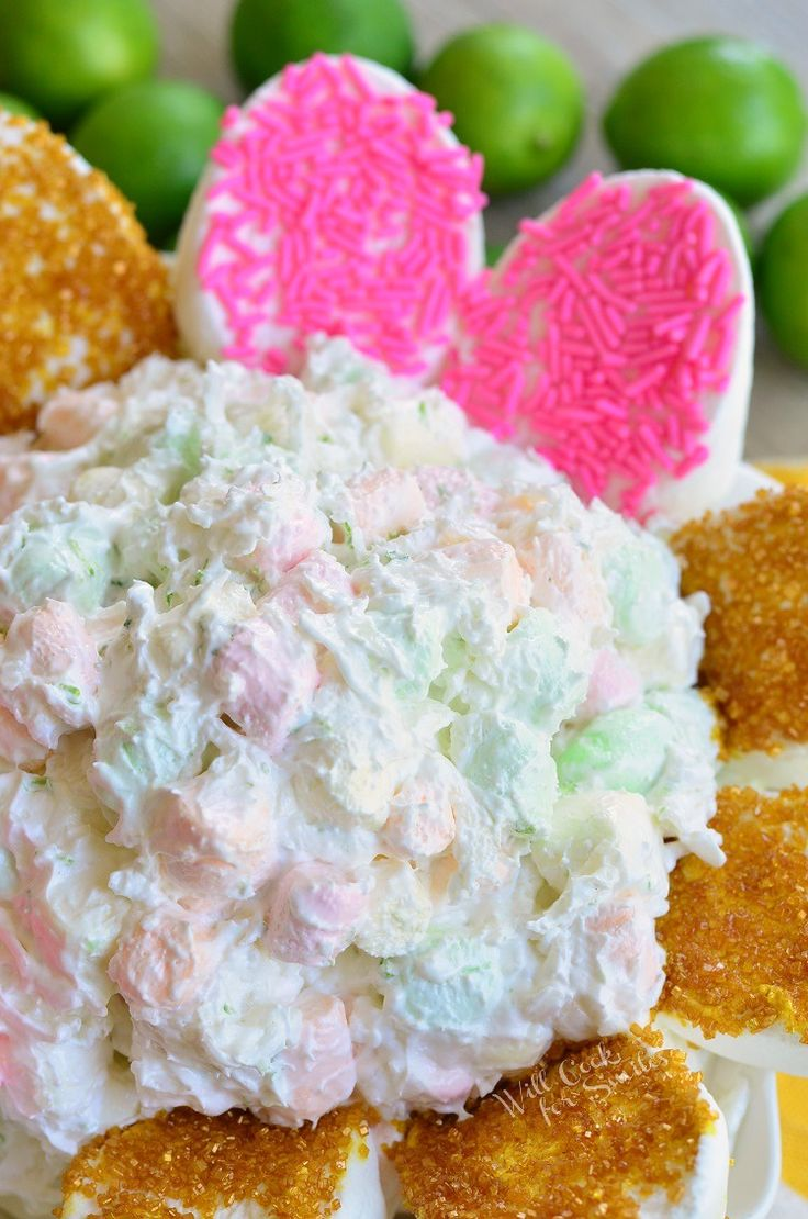 Coconut Key Lime Marshmallow Dip. Easy spring and summer dessert that requires no baking, takes only 5 minutes to prepare, and flavored with key lime zest and coconut.