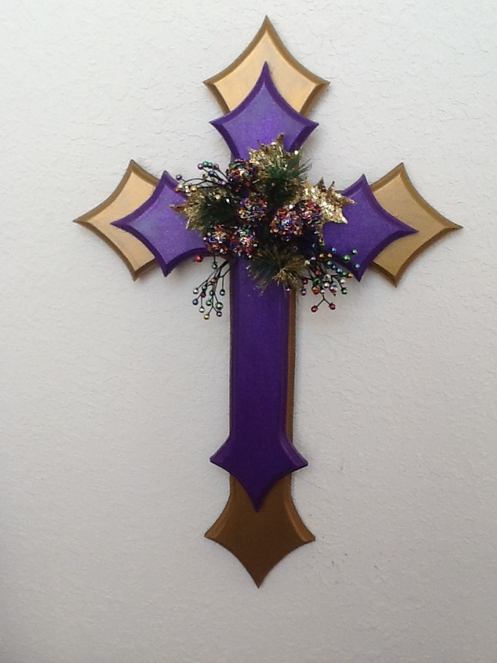 Purple Christmas Cross by Billy Parnell