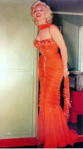 marilyn monroe orange dress - Google Search