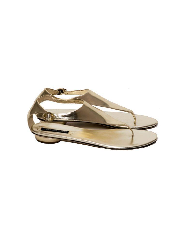 Sandały złote   NOWOŚCI \MORELLA BRUNI BUTY \ SANDAŁY/JAPONKI   donnamoderna.pl luxury shopping Rozmiar 39 Cena 899 pln. #morellabruni