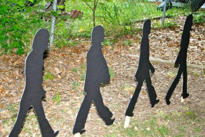 Beatles Birthday Party Abbey Road Silhouettes | www.inklingsandyarns.com
