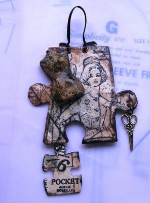 altered puzzle pieces | This puzzle piece is from a children's puzzle and measures just under ...