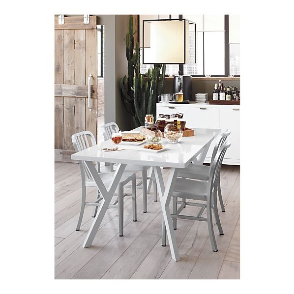 17 best images about dining on pinterest modern for Cocktail tables crate and barrel