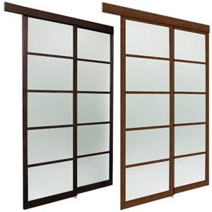 """Asian Series    Sliding Closet Door    with Frosted Glass Insert Costco $48"""" $319.00"""