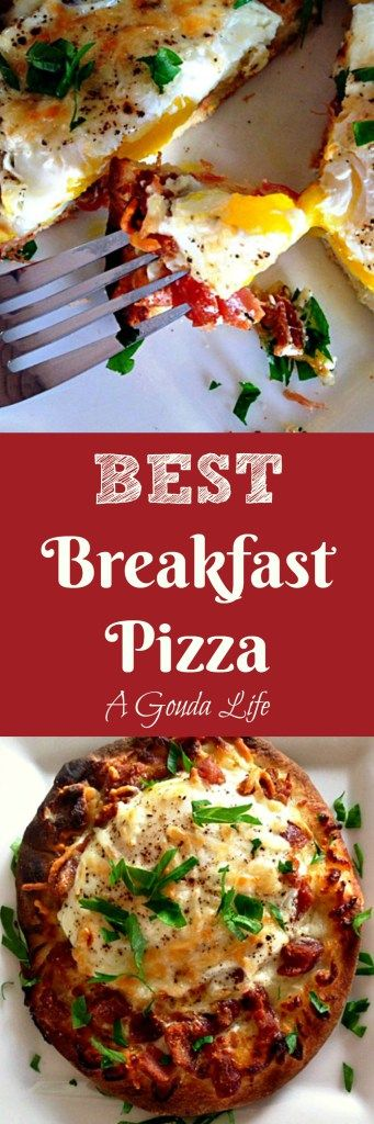 Start any day with this easy, fast breakfast pizza ~ bacon, egg and cheese or customize as you like!