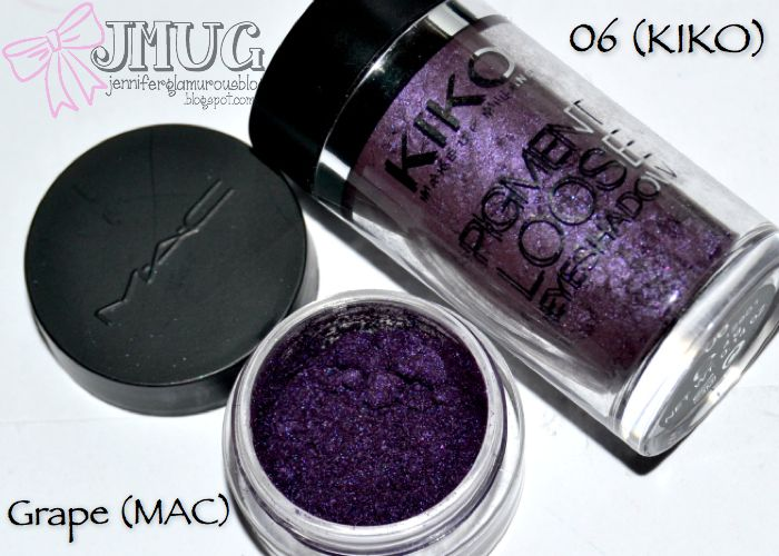 """Pigmento """"Grape"""" (MAC) vS Pigmento """"06"""" (KIKO)"""