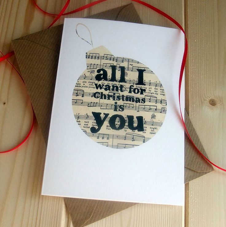 vintage sheet music christmas cards by bookishly | notonthehighstreet.com