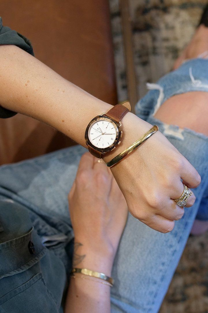 We partnered up with interior designer @amberinteriors, to bring you a rose gold and tortoise watch inspired by innovative design.