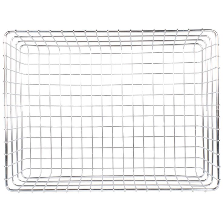"""This Choice 18"""" x 24"""" chrome wire bagel basket will allow you to clearly display, store, and transport bagels, pastries, rolls, or other bulk baked goods at your bakery, deli, or cafe. Its heavy duty nickel chrome wire construction means it can stand up to years of heavy use, and its wrapped edges allow for safe handling. <br><br><b><u>Overall Dimensions:</b></u> <br>Length: 24"""" <br>Width: 18"""" <br>Height: 8&qu..."""