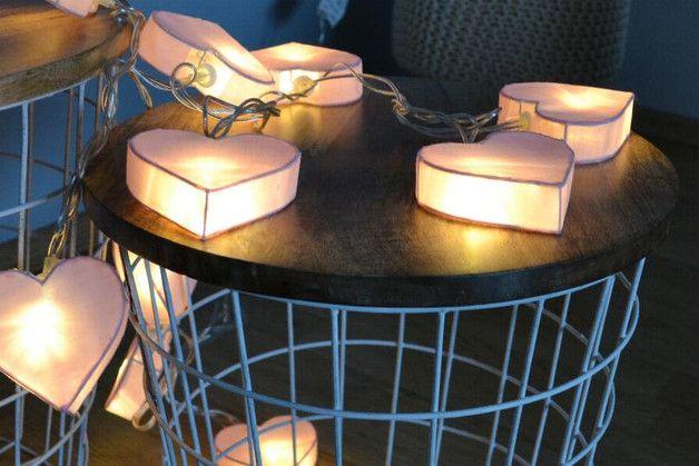 Girlanda, lampki serduszka- 10szt - Anita_hd - Lampki